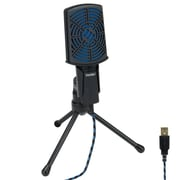 ENHANCE USB Condenser Microphone for Desktop / Laptop PC Gaming with Adjustable Stand (ENPCCM1100BKEW)
