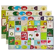 JAM Paper To/From Christmas Gift Tag Stickers, Cheerful Christmas, 120/Pack (209934208)