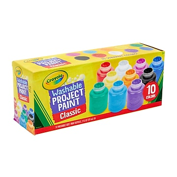 Crayola Classic Washable Watercolors, Assorted Colors, 2 oz., 10 Bottles/Pack (54-1205)