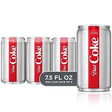 Coca-Cola Mini Diet Coke Soda, 7.5 Oz., 24/Carton (00049000061055)