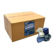 """Pro-Clean Basics Recycled Woven Wiping Rags, 25-pound box, 12"""" W x 18"""" L, Assorted (ST99601)"""