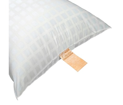 Gold Choice Silicone Fiber Fill Pillow Queen Size, 42' W x 20