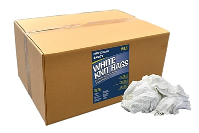 Pro-Clean Basics T-Shirt Rags, 15-pound box, 10