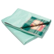 "Healthcare Basics Plaid Underpad 7-ounce, 12-Pack, 34"" W x 36"" L, Green (STX14310)"