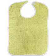 "Healthcare Basics Terry Bib with Velcro Closure 3.5-pound, 12-Pack, 18"" W x 19"" L, Yellow (STX14460)"