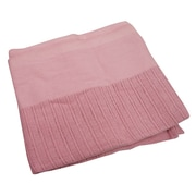 "R&R Value Thermal Blanket Leno Weave Twin Size 2.5-pound, 66"" W x 90"" L, Rose (STX51004)"