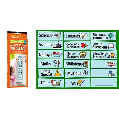 Easy Daysies French Classroom Visual Daily Schedule, 18 piece set (ESD214)