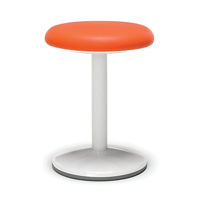 OFM Orbit Series Static Stool 18 Inch High - Vinyl Orange (2818-STA-V-OR)