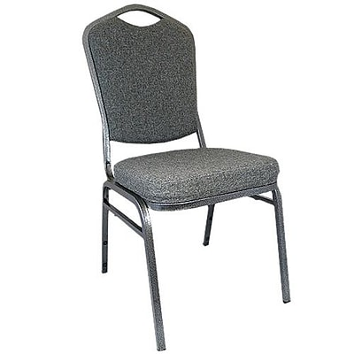 Advantage Charcoal Gray Crown Back Banquet Chair, 50 Pack (CBBC-109)