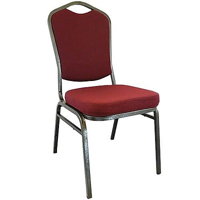 Advantage Maroon Crown Back Banquet Chair, Gold Vein Frame, 50 Pack (CBBC-105)