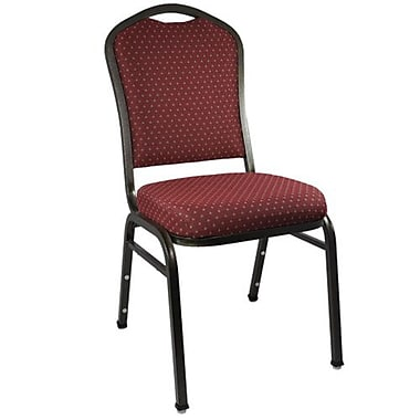 Advantage Premium Burgundy-patterned Crown Back Banquet Chair - Gold Vein Frame 25 Pack (CBMW-202-GV-25)