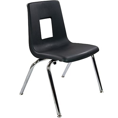 Advantage Black Student Stack School Chair - 16