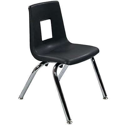 Advantage Black Student Stack School Chair - 14