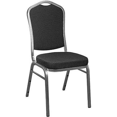 Advantage Black Patterned Crown Back Banquet Chair 2 Pack (CBBC-118-2)