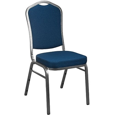 Advantage Navy Patterned Crown Back Banquet Chair 2 Pack (CBBC-101-2)