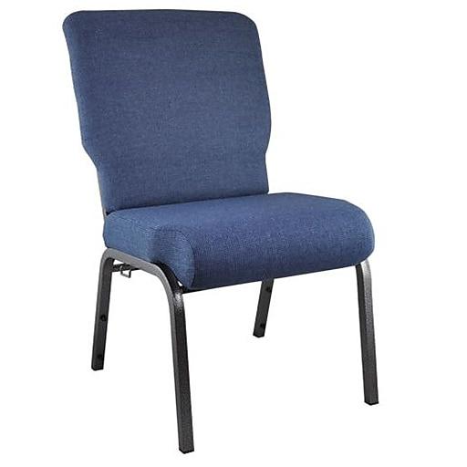 "Advantage 20.5"" Wide Blue Basket Weave Church Chair (PCMW-109)"
