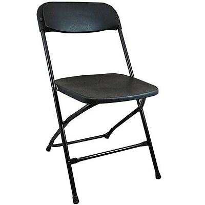 Advantage Black Plastic Folding Chairs 36 Pack (PPFCLA-BLACK-36)