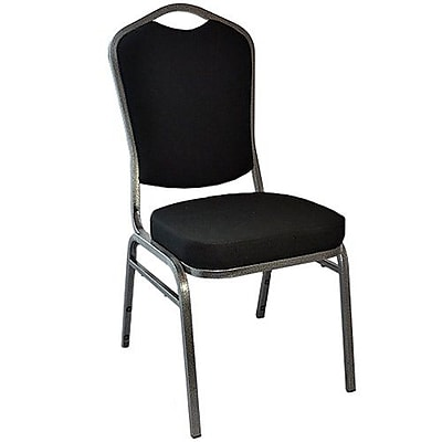 Advantage Black Crown Back Banquet Chair 2 Pack (CBBC-110-2)