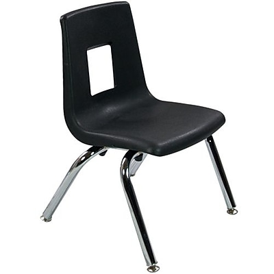 Advantage Black Student Stack School Chair - 12