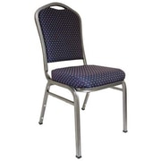 Advantage Premium Navy-patterned Crown Back Banquet Chair, 50 Pack (CBMW-201)