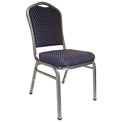 Advantage Premium Navy-patterned Crown Back Banquet Chair 2 Pack (CBMW-201-2)