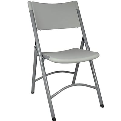 Advantage Plastif Folding Chair - Grey Granite 4 Pack (FCBM-1GREY-4)