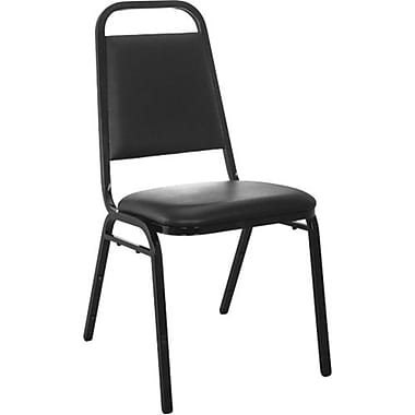 Advantage Black Vinyl-padded Stackable Chairs - 1.5