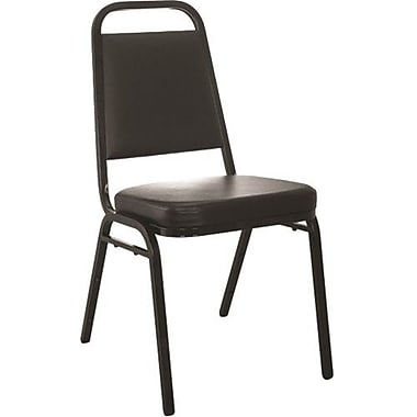 Advantage Black Vinyl-Padded Stackable Chairs 2.5