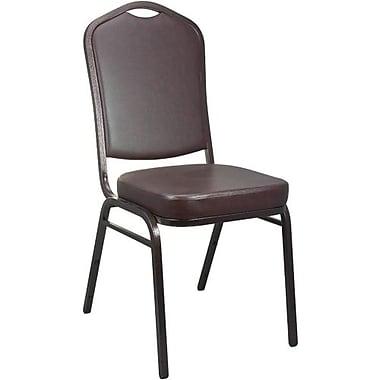 Advantage Mocha Crown Back Vinyl Banquet Chair 2 Pack (CBBC-V-122-2)
