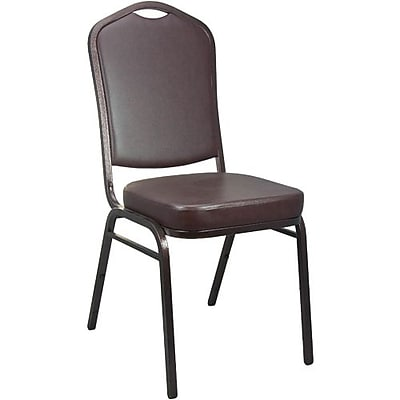 Advantage Mocha Crown Back Vinyl Banquet Chair 2 Pack (CBBC-V-122-2)