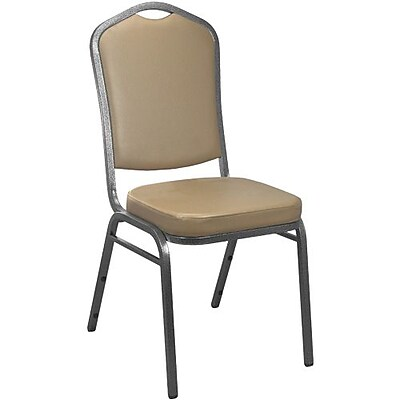 Advantage Tan Crown Back Vinyl Banquet Chair 2 Pack (CBBC-V-121-2)