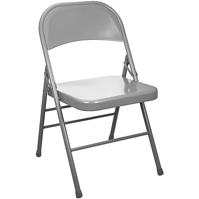 Advantage Gray Metal Folding Chair 4 Pack (EDPI903M-GREY-4)