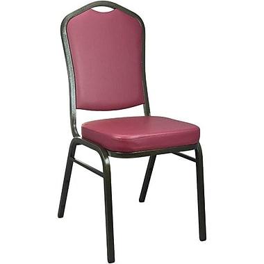 Advantage Burgundy Crown Back Vinyl Banquet Chair 2 Pack (CBBC-V-105-2)