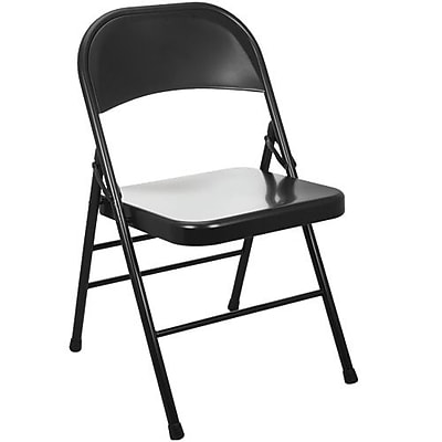 Advantage Black Metal Folding Chair, 80 Pack (EDPI903M-BLK)