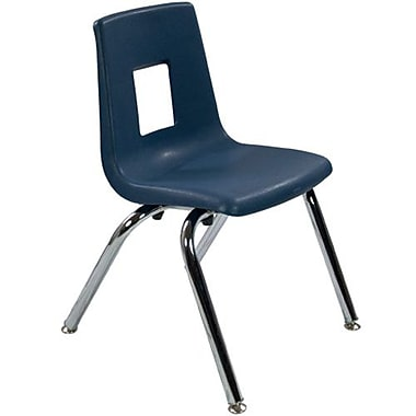 Advantage Navy Student Stack School Chair - 14