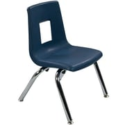 "Advantage Navy Student Stack School Chair - 12"" 4 Pack (ADVSSC12NAVY4)"