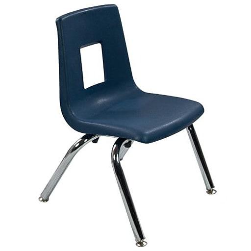 "Advantage Navy Student Stack School Chair - 12"" 4 Pack (ADVSSC12NAVY4)"