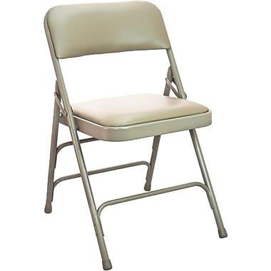 Advantage Beige Vinyl Padded Folding Chairs 4 Pack (DPI903V-BB-4)
