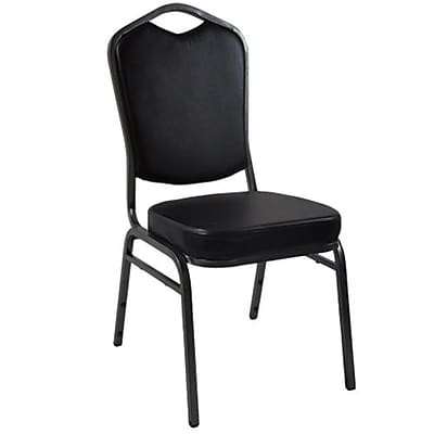 Advantage Black Crown Back Vinyl Banquet Chair 2 Pack (CBBC-V-123-2)
