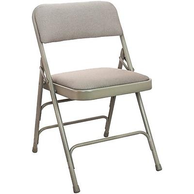 Advantage Beige Padded Folding Chairs 4 Pack (DPI903F-BB-4)