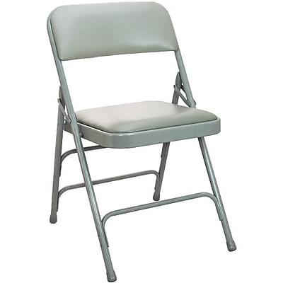 Advantage Gray Padded Metal Folding Chair, Gray 1