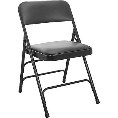 Advantage Black Vinyl Padded Folding Chairs 40 Pack (DPI903V-BLK-40)