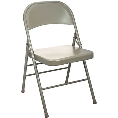 Advantage Beige Metal Folding Chair (EDPI903M-BEIGE)