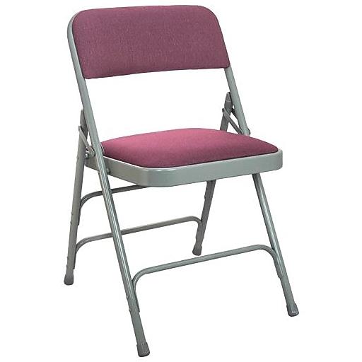 Advantage Burgundy Padded Folding Chairs 40 Pack (DPI903F-GB-40)