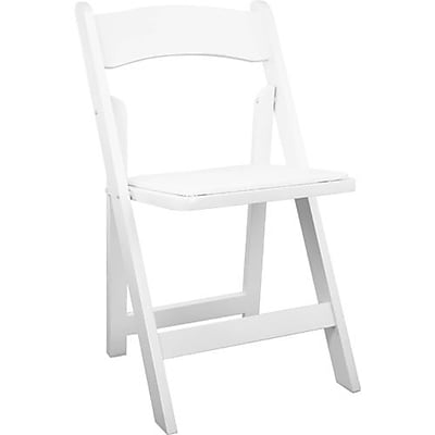 Advantage White Wood Folding Wedding Chair, 80 Pack (WFC-W)