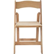 Advantage Natural Wood Folding Wedding Chairs 40 Pack (WFC-NWF-40)