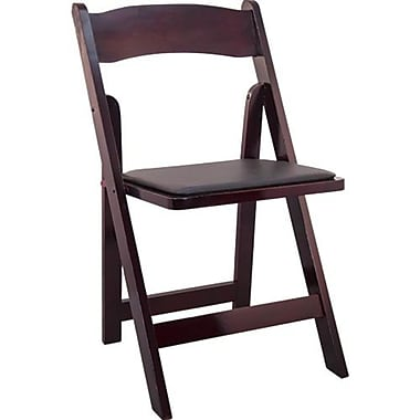 Advantage Mahogany Wood Folding Wedding Chairs 40 Pack (WFC-M-40)