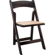 Advantage Fruitwood Wood Folding Wedding Chairs 4 Pack (WFC-FW-4)