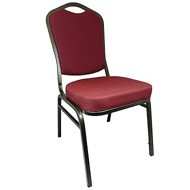 Advantage Burgundy Pattern Crown Back Banquet Chair 2 Pack (CBBCSE-10-2)