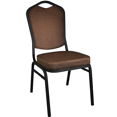 Advantage Brown Pattern Crown Back Banquet Chair, 50 Pack (CBBCSE-08)